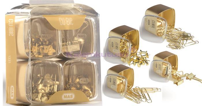 Mas Cubbie Premium Gold Ofis Kırtasiye Dörtlü Set