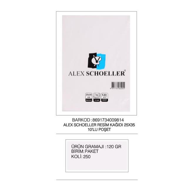 ALEX RESİM KAĞIDI 25x35 120 GR 10 LU ALX-9814