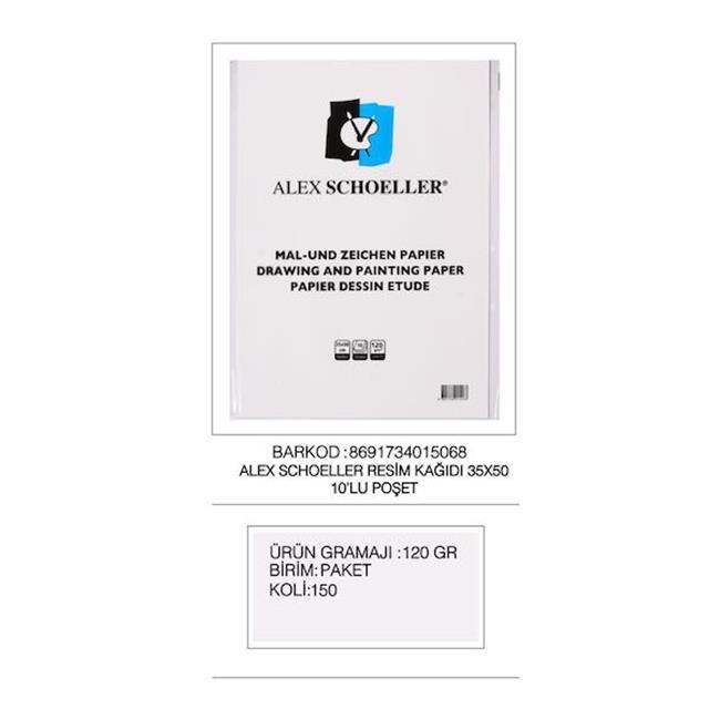 ALEX RESİM KAĞIDI 35x50 120 GR 10 LU ALX-5068
