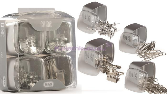 Mas Cubbie Premium Silver Ofis Kırtasiye Dörtlü Set