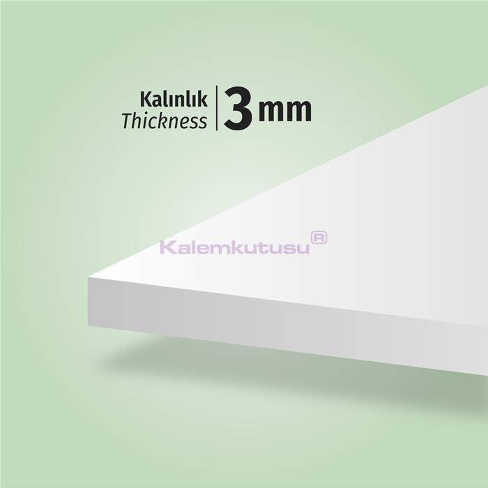 Brons BR-1201 Beyaz Fotoblok Maket Kartonu 50x70  %30 İndirimli Fiyatlarla!