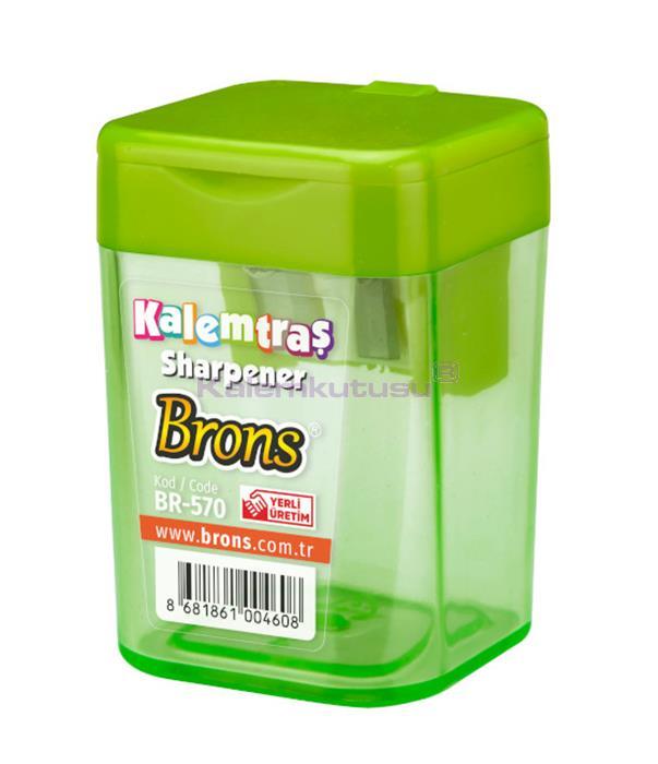 Brons BR-570 Kare Hazneli Kalemtraş Yeşil