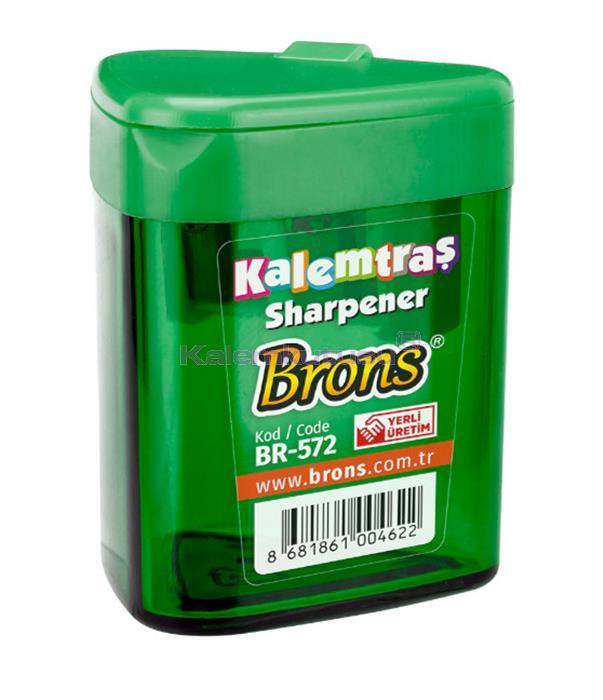 Brons BR-572 Üçgen Hazneli Kalemtraş Yeşil
