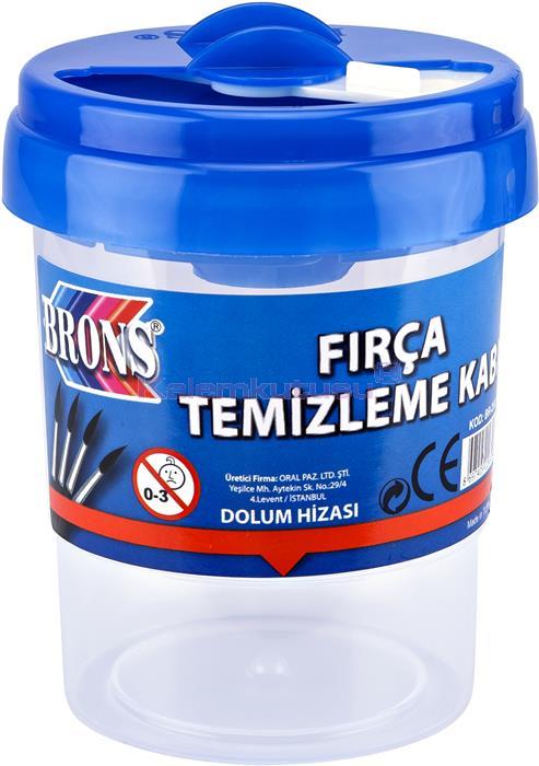 Brons BR-250 Fırça Temizleme Kabı Mavi