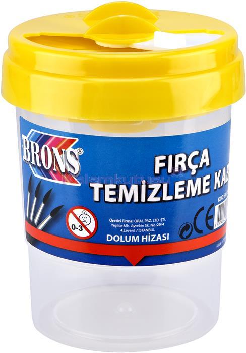 Brons BR-250 Fırça Temizleme Kabı Sarı