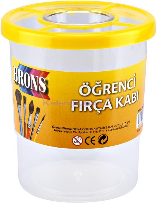 Brons BR-258 Öğrenci Fırça Kabı Sarı