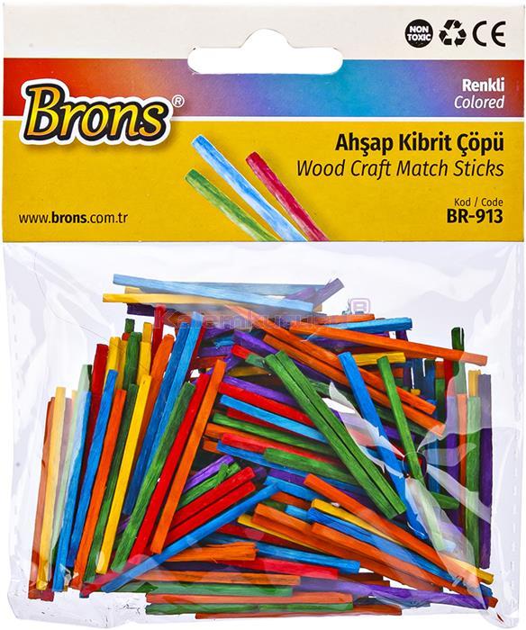 Brons BR-913 Renkli Ahşap Kibrit Çöpü