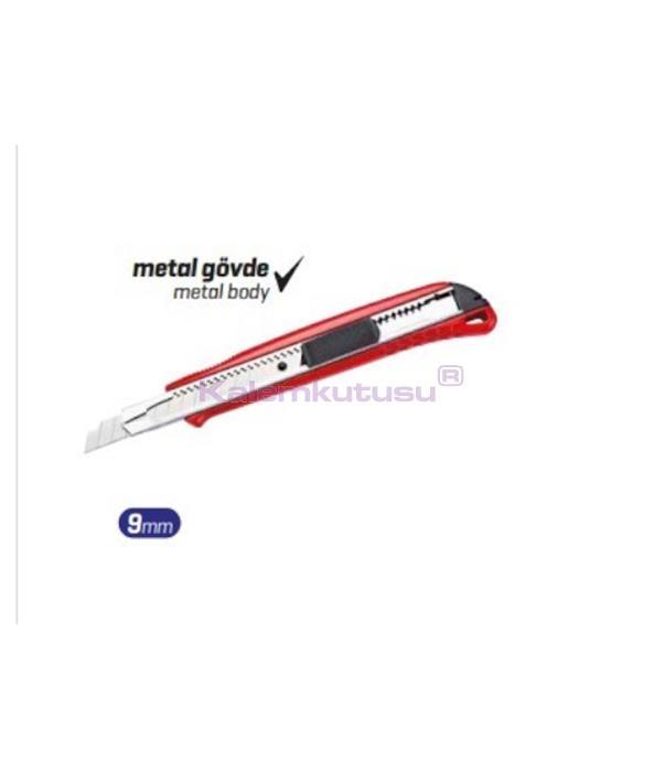 Brons BR-726 Paslanmaz Çelik Maket Bıçağı 9mm