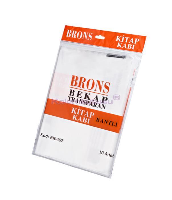 Brons BR-462 Şeffaf ve Bantlı Kitap Kabı 10'lu