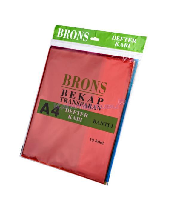 Brons BR-457 A4  Renkli ve Bantlı Defter Kabı 10'lu