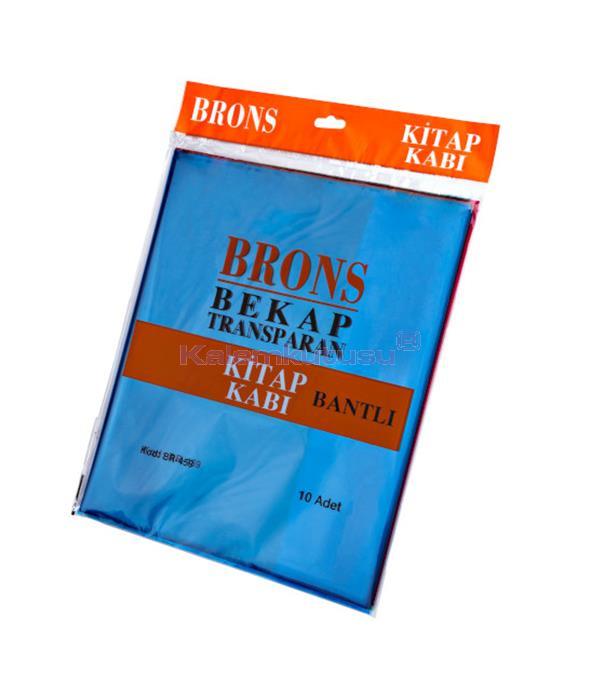 Brons BR-459 Renkli ve  Bantlı Kitap Kabı 10'lu