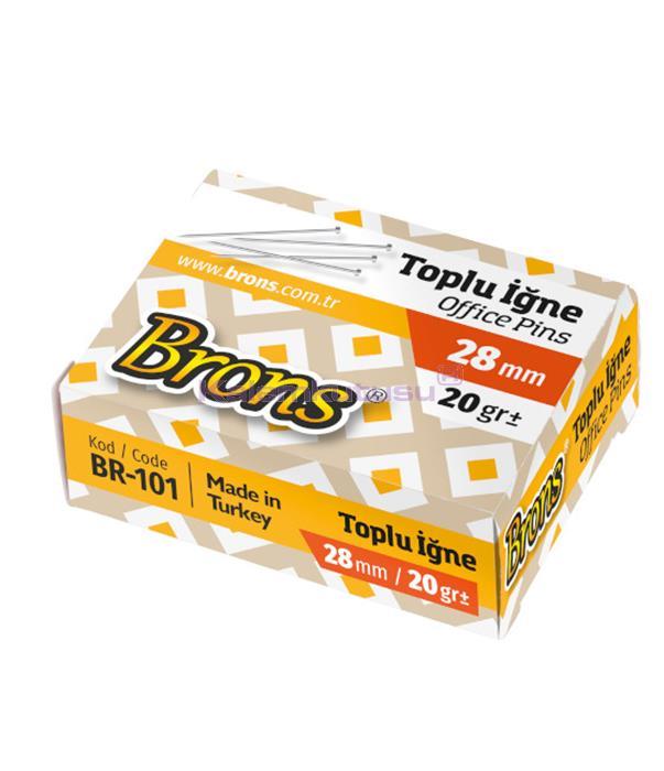 Brons BR-101 Metal Toplu İğne 28 mm 20 gr