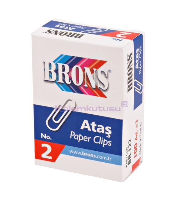 Brons BR-122 Metal Ataş No 2 %30 İndirimli Fiyatlarla!
