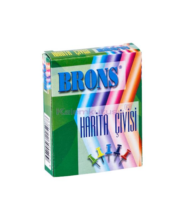 Brons BR-357 Renkli Harita Çivisi 36'lı %30 İndirimli Fiyatlarla!