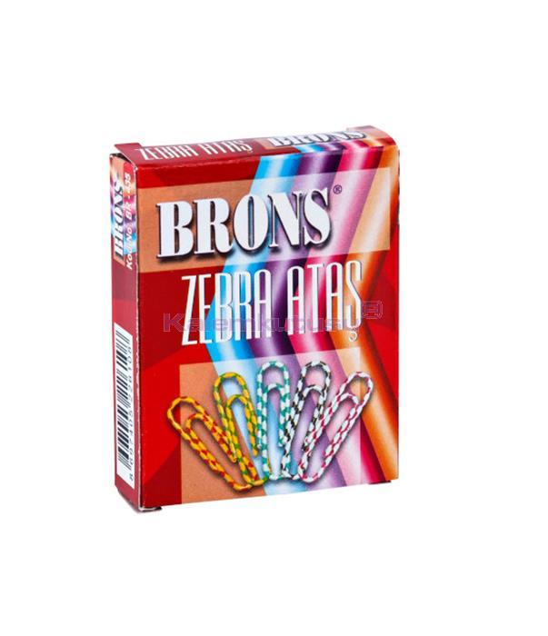 Brons BR-435 Renkli Zebra Ataş 36'lı %30 İndirimli Fiyatlarla!