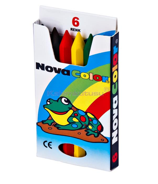Nova Color NC-1106 Kısa Crayon Boya 6'lı