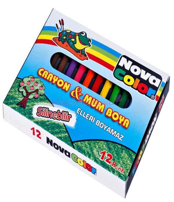Nova Color NC-1112 Kısa Mum Boya 12'li