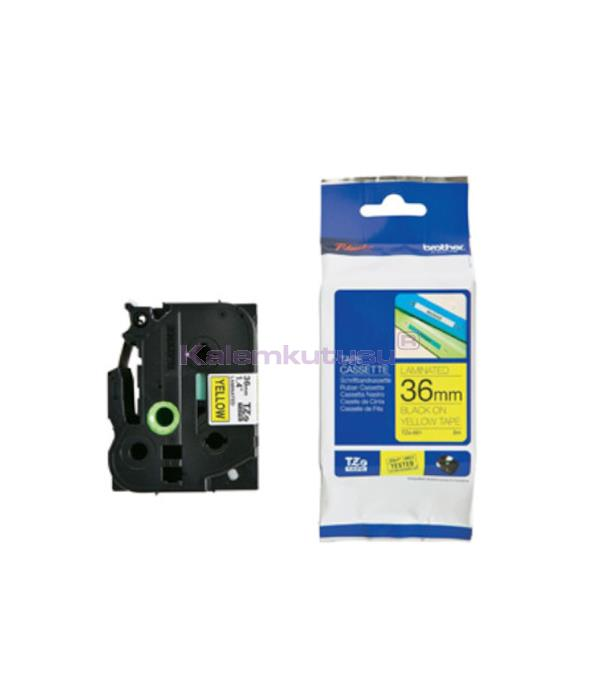 Brother P-touch Tz-Tape 36 mm Sarı Üzerine Siyah TZE661