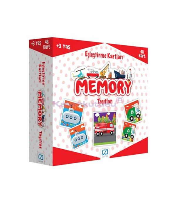 CA Games Memory Taşıtlar Eşleştirme Kartı - 5038