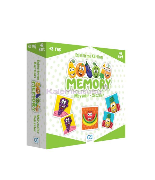 CA Games Memory Meyveler -Sebzeler Eşleştirme Kartı 5040