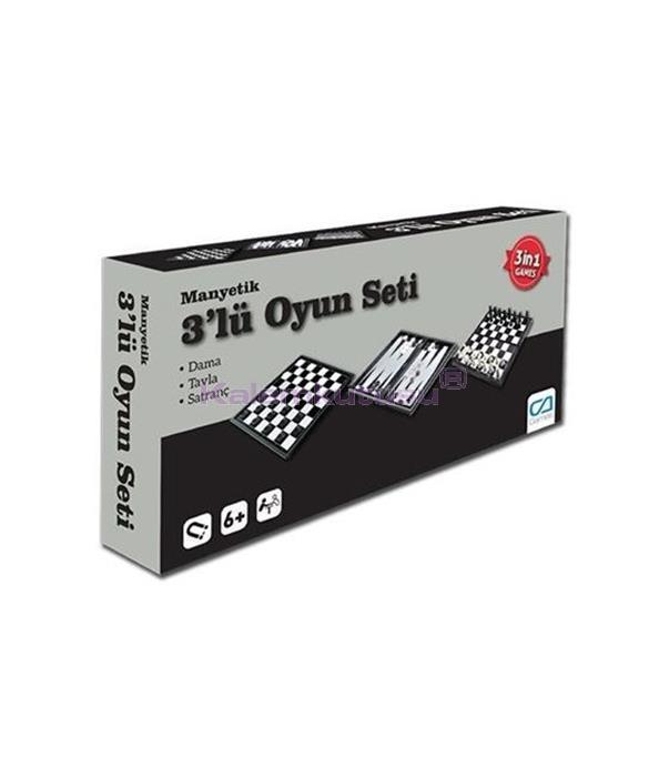 CA Games Satranç Dama Tavla Manyetik Oyun Seti - 10002