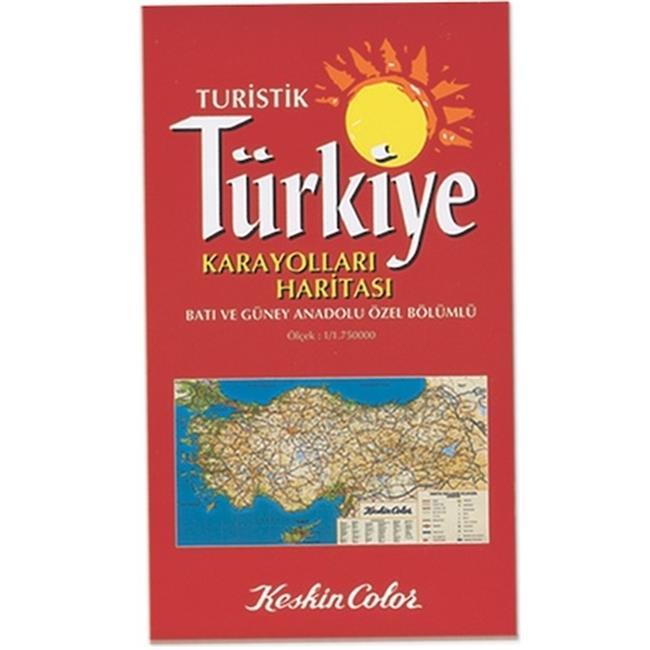 Keskin Color KESKİN HARİTA TÜRKİYE KARAYOLLARI TÜRKÇE 715001-99