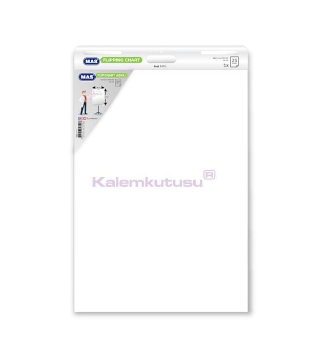 Mas 3691  Flipchart Askılı 64 x 90 Düz 25 Yaprak 80 gr