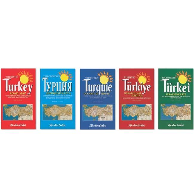 Keskin Color KESKİN HARİTA KARAYOLLARI İNGİLİZCE 715004-99