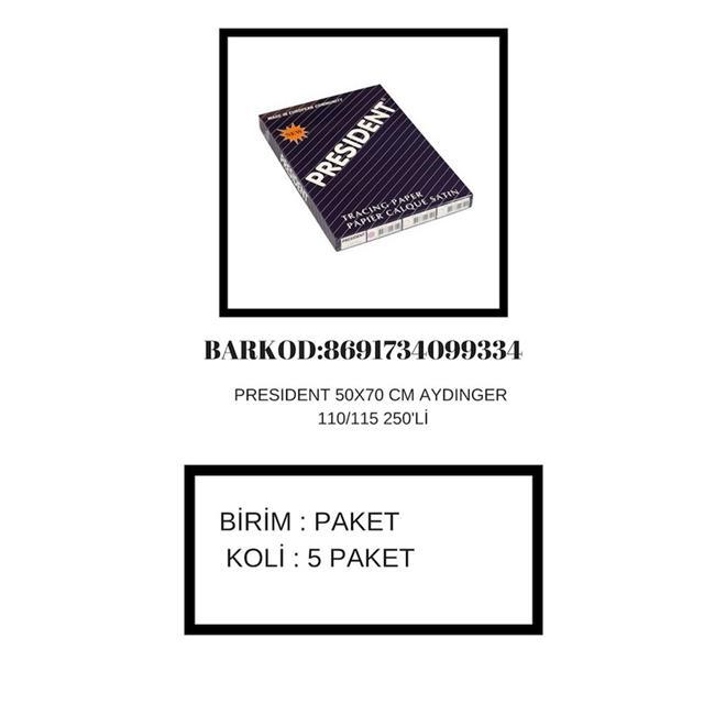PRESIDENT AYDINGER 50x70 110/115 GR 250 Lİ