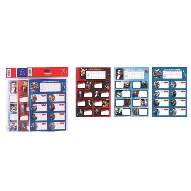 Keskin Color KESKİN ETİKET DERS PROG. 20 Lİ ATATÜRK 220121-99