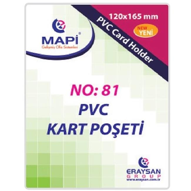 MAPİ PVC POŞET GÜVENLİK 165X120 DİK 100LÜ 9101040