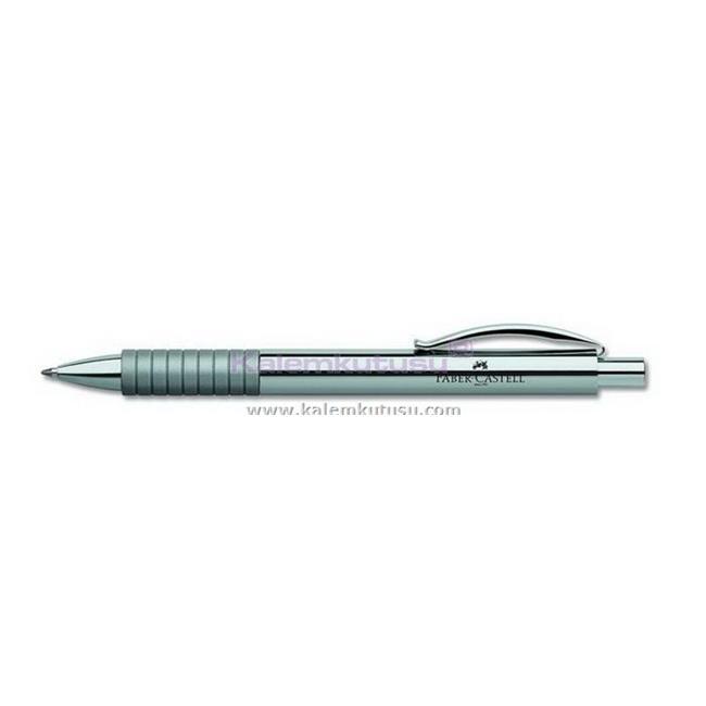 FABER-CASTELL BASIC PARLAK LAKE KROM/ÇELİK TÜKENMEZ KALEM  - gümüş