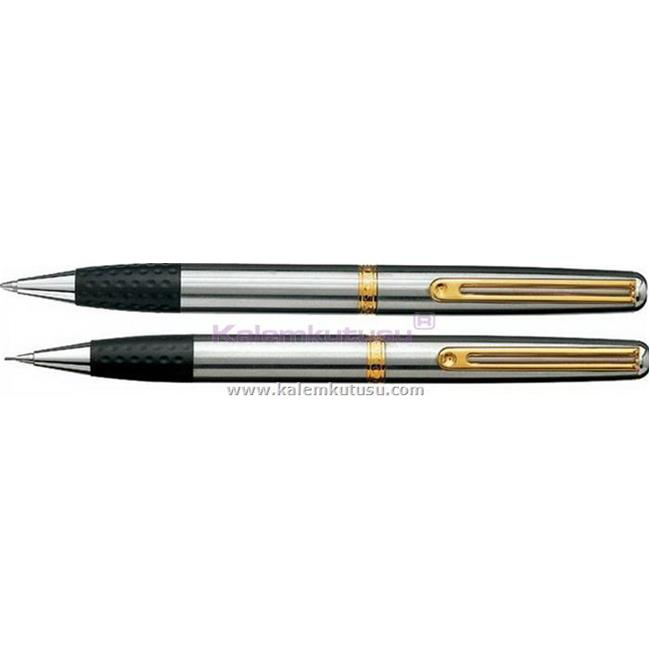 Inoxcrom Elegance Mat Krom/Altın Tükenmez Kalem + M.Kurşun Kalem  %30 İndirimli Fiyatlarla