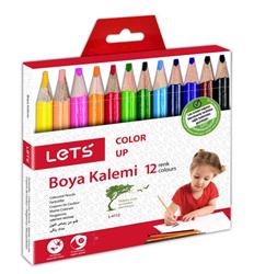 Lets Kuruboya Kalemi Yarim Boy 12 Renk L-4112