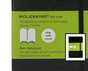 MOLESKINE Soft Cover Plain Notebook 9x14cm