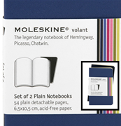 MOLESKINE VOLANT SET OF 2 PLAIN NOTEBOOK 6,5x10,5 cm - blue