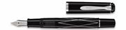 Pelikan M215 Classic Siyah-Gümüş Rhombus Dolma Kalem - 4 Farklı Uç Seçeneği