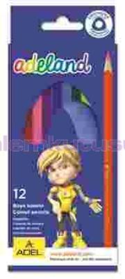 Adeland Kuruboya Üçgen 12 Renk Tam Boy 315107