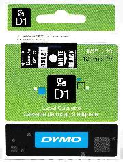 Dymo Şerit D1 12mmx7mt Siyah/beyaz 720610 45021