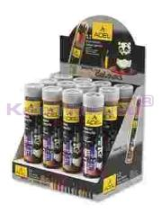 Adel Kuruboya Metal Tüp Siyah 12 Renk Tb312003