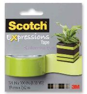 Scotch Bant Renkli 19mmx7,62m Yeşil C214-grn