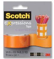Scotch Bant Renkli 19mmx7,62m Turuncu C214-org