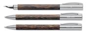 Faber-Castell Ambition Hindistan Cevizi Ağacı Dolmakalem + Tükenmezkalem + M.Kurşunkalem - cocos