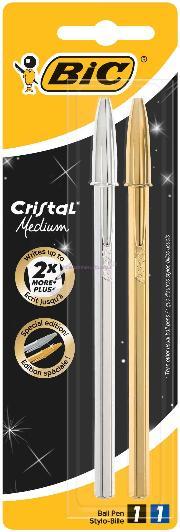 Bic Tükenmez Cristal Altin/gümüş 2li 921336