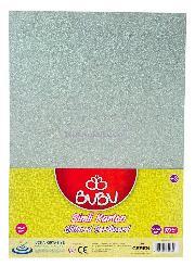 Bu-bu Fon Kartonu 50x70 Simli Beyaz 10 Lu Fk0016