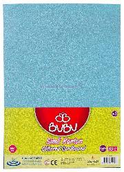 Bu-bu Fon Kartonu 50x70 Simli A.mavi 10 Lu Fk0008