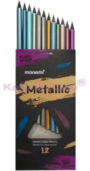 Mon Ami Kuru Boya 12 Renk Tam Boy Metalik