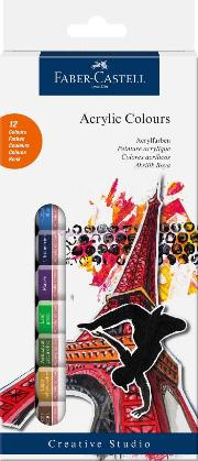 Faber Akrilik Boya 12 Renk 12 Ml Tüp 169501