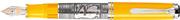 Pelikan Toledo M910-Sarı Som Gümüş El İşlemeli Büyük Boy Dolma kalem - 3 Farklı Uç Seçeneği