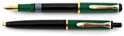 Pelikan MK150 Modellgruppe PARLAK LAKE SİYAH/YEŞİL DOLMA KALEM + TÜKENMEZ KALEM